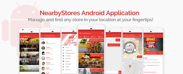 NearbyStores Android - Offers, Events & Chat Realtime + Firebase 1.8 - 2
