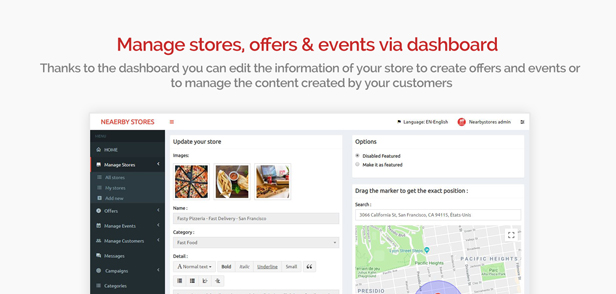 NearbyStores Android - Offers, Events & Chat Realtime + Firebase 1.8 - 10