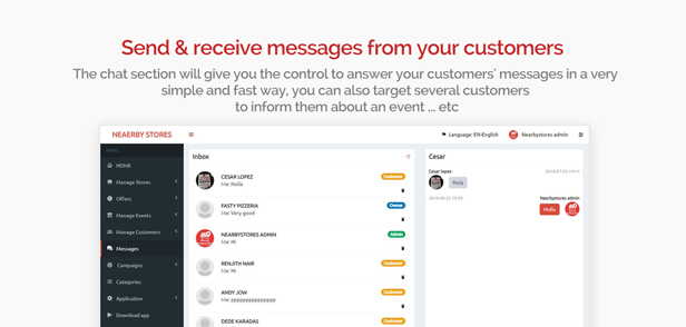 NearbyStores Android - Offers, Events & Chat Realtime + Firebase 1.8 - 11