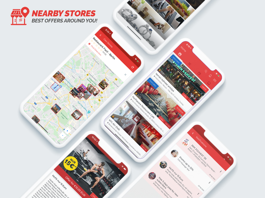 NearbyStores iOS - Offers, Events & Chat Realtime + Firebase 1.8 - 1
